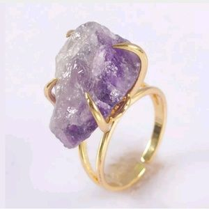 Jewelry - Size 6 Raw Amethyst ring